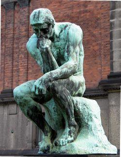 l'homme entraien de réfléchir